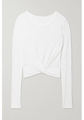 Alo Yoga - Cover Twisted Ribbed Stretch-modal Jersey Top - White