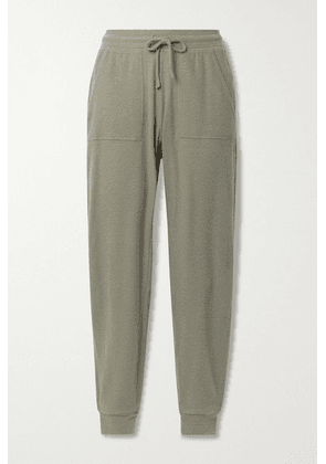Alo Yoga - Soho Brushed Stretch-jersey Track Pants - Army green