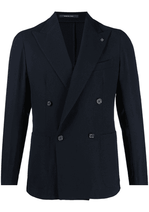 Tagliatore fitted double-breasted blazer - Blue