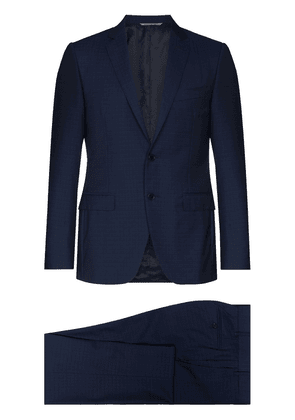 Canali notch-lapel single-breasted suit - Blue