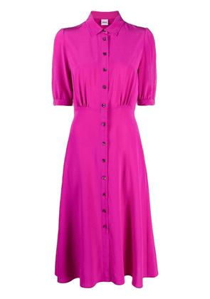 Aspesi button-up silk shirt dress - Pink