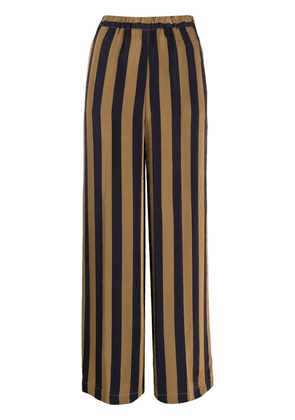 Aspesi stripe-print wide-leg trousers - Blue