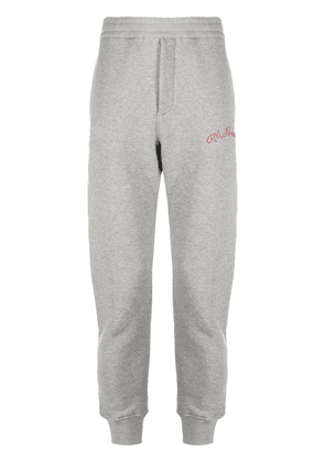 Alexander McQueen embroidered logo track pants - Grey