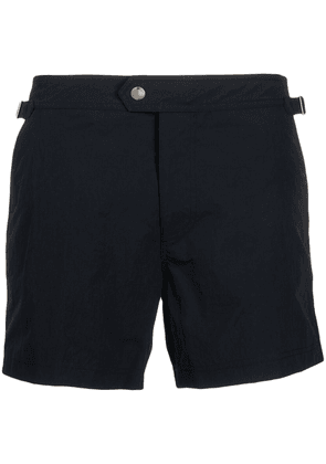 TOM FORD buttoned swim shorts - Blue