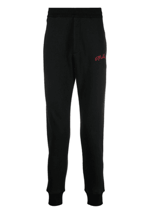 Alexander McQueen embroidered logo track pants - Black
