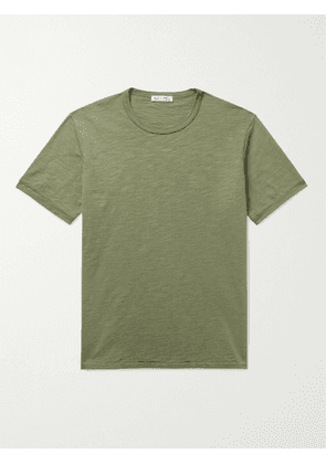 ALEX MILL - Standard Slim-Fit Slub Cotton-Jersey T-Shirt - Men - Green - M