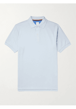PAUL SMITH - Cotton-Piqué Polo Shirt - Men - Blue - S