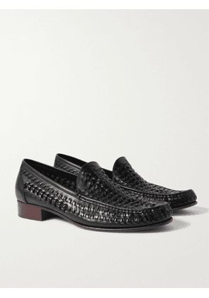 SAINT LAURENT - Swann Woven Leather Loafers - Men - Black - EU 42