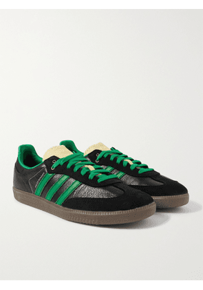 ADIDAS CONSORTIUM - Wales Bonner Samba Suede-Trimmed Leather Sneakers - Men - Black - UK 6