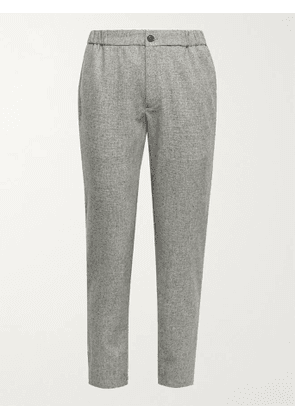 CLUB MONACO - Lex Tapered Wool-Blend Donegal Tweed Trousers - Men - Gray - XS