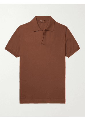 LORO PIANA - Cotton Polo Shirt - Men - Brown - IT 46