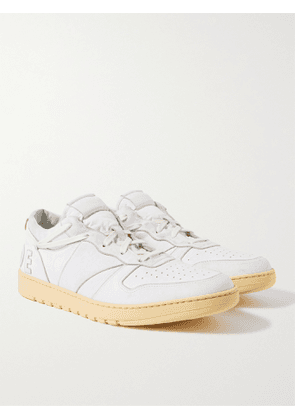 RHUDE - Rhecess Distressed Leather Sneakers - Men - White - 7