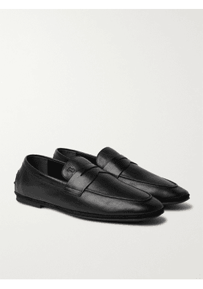 TOD'S - Suede Driving Shoes - Men - Black - 7