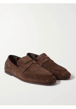TOD'S - Suede Driving Shoes - Men - Brown - 6