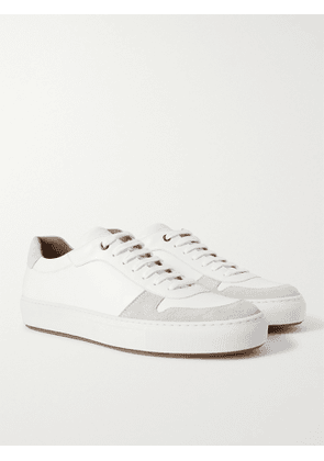 HUGO BOSS - Leather and Suede Sneakers - Men - White - UK 7