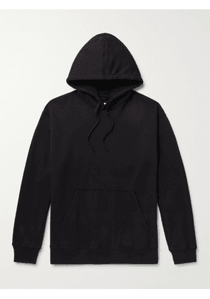 REIGNING CHAMP - Loopback Cotton-Jersey Hoodie - Men - Black - S