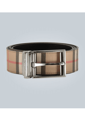 Leather Classic Check belt