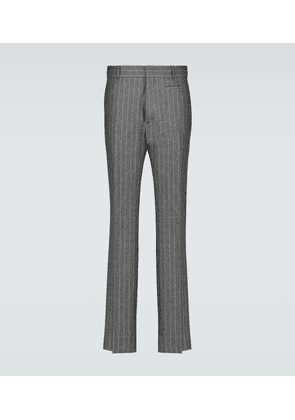 Flannel pinstriped pants