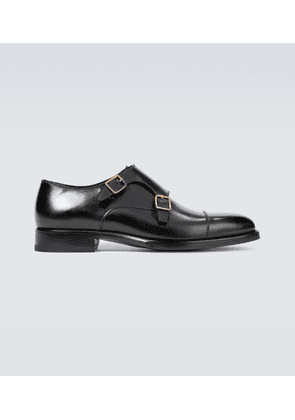 Wessex leather monk strap shoes