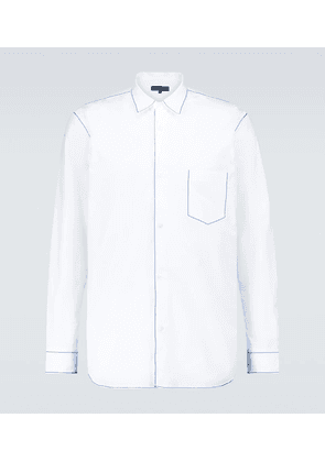 Stitched long-sleeved cotton shirt