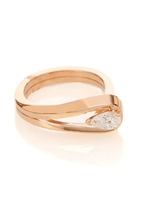 Serti Inversé 18kt rose gold ring with diamond