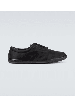 Nylon lace-up sneakers