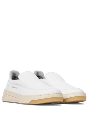 Exclusive to Mytheresa – Leather slip-on sneakers