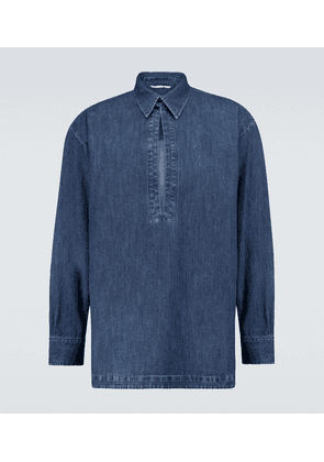 Valentino denim chambray kaftan shirt