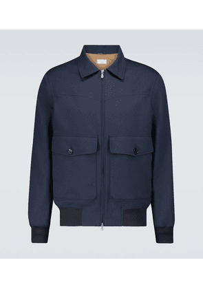Wool and cotton-blend bomber jacket
