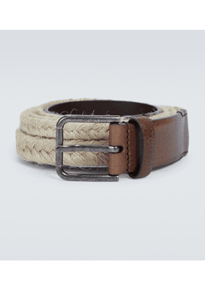 Jute and leather belt