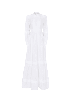 Ulrica cotton-blend voile bridal gown