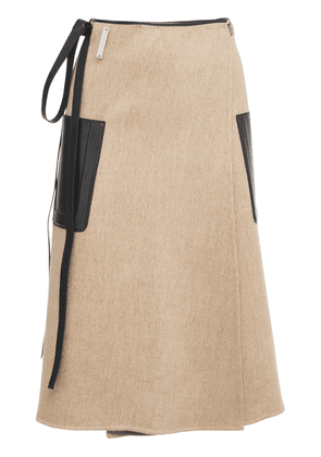Double Face Wool Wrap Skirt