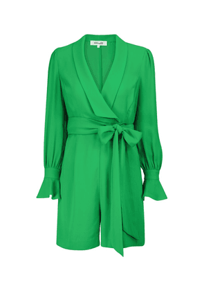 Ina belted georgette playsuit