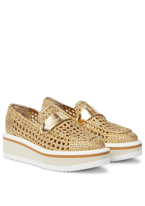 Exclusive to Mytheresa – Belma woven leather platform loafers