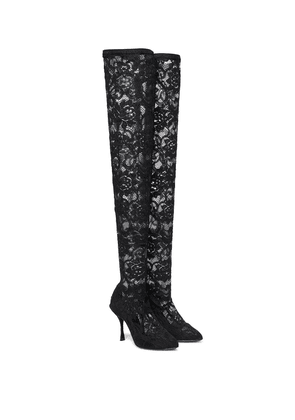 Lace over-the-knee boots
