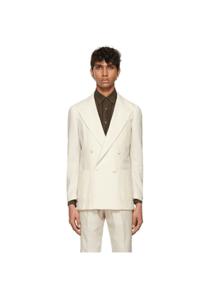 Ring Jacket Off-White Wool Dinner Double-Breasted Blazer