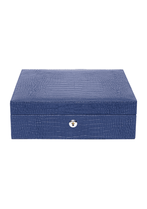 Blue Leather Brompton Watch Box