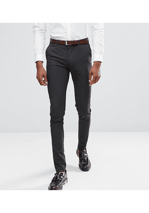 ASOS DESIGN Tall super skinny smart trousers in charcoal-Grey