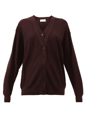 Lemaire - Double-front Merino-wool And Dralon Cardigan - Womens - Burgundy
