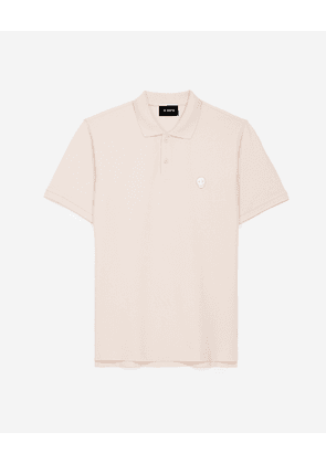 The Kooples - Pink polo with classic collar & embroidery - MEN
