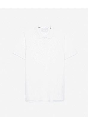 The Kooples - White polo in cotton with lettering on back - MEN