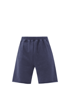 Aries - Temple-print Cotton-jersey Shorts - Mens - Navy