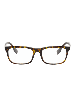 Burberry Tortoiseshell Rectangular Glasses