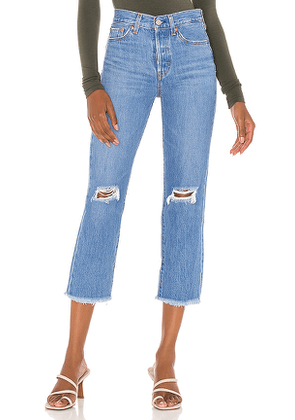LEVI'S Wedgie Straight Crop in Blue. Size 24, 29.