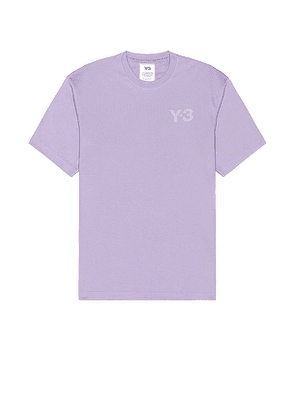Y-3 Yohji Yamamoto Classic Chest Logo Tee in Lavender. Size L.