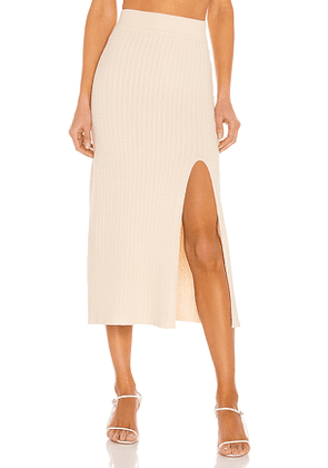 Line & Dot Camila Skirt in Nude. Size M.