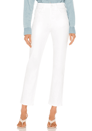 MOTHER High Waisted Hiker Hover in White. Size 25, 26, 30, 31, 32.