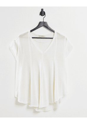 We The Free by Free People sammie relaxed t-shirt in burnout-White