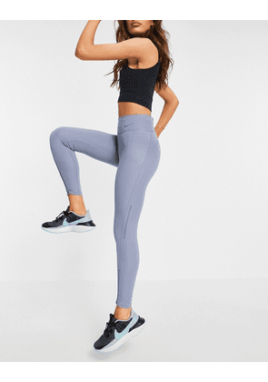 Nike Running epic fast tight 7/8 leggings in grey