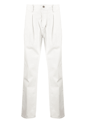 TOM FORD pleat-detail straight-leg jeans - White